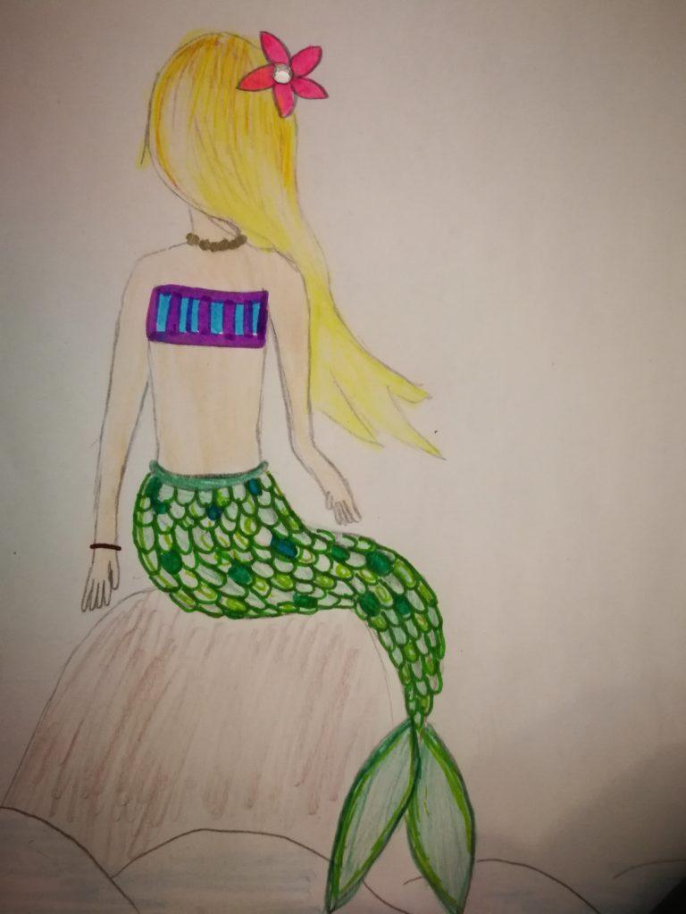 Meerjungfrau gemalt